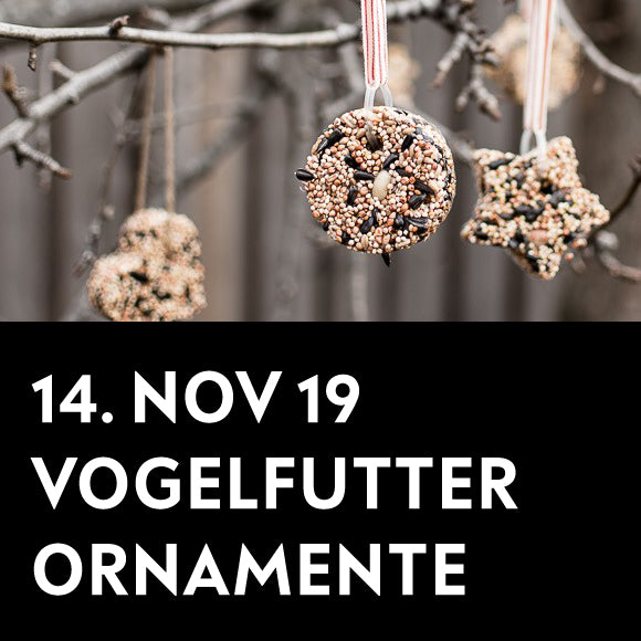 Workshop - Vogelfutter-Ornamente 14. November 2019