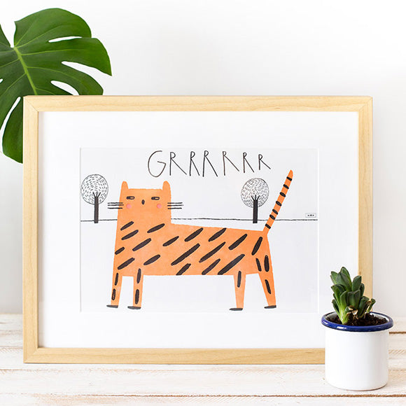 Kunstdruck - Tiger Letterpress