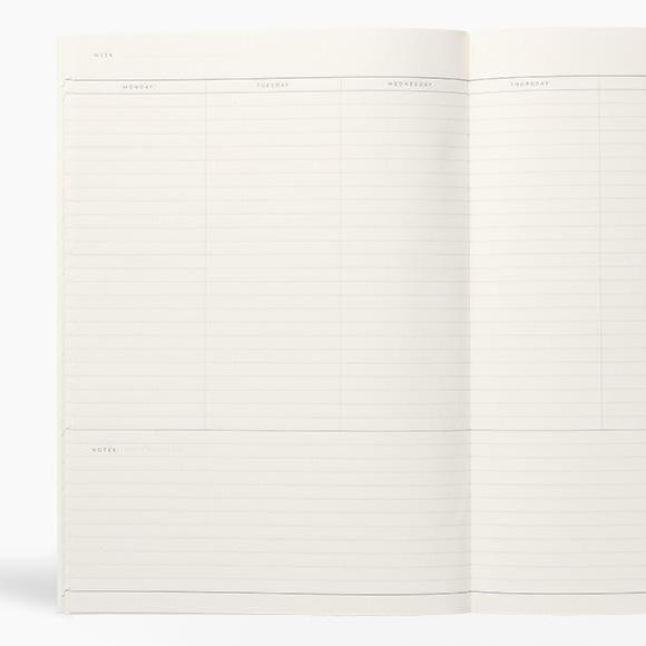 Kalender - MILO weekly planner book light gray