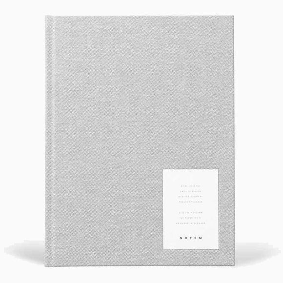 Journal - EVEN work journal large light gray