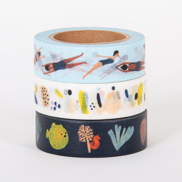 Masking-Tape 3er-Set - The Sea Collection