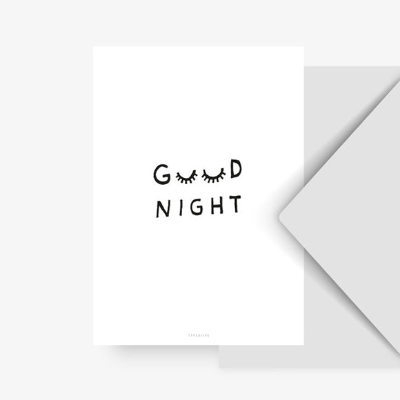 Postkarte - Good Night