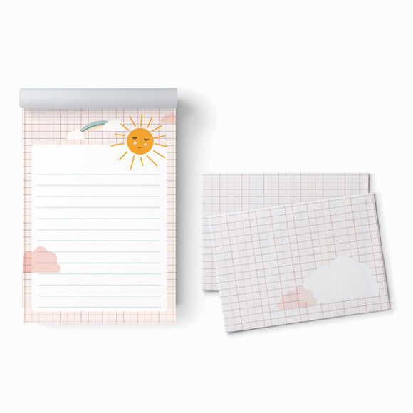 Briefpapier - Set Sonne