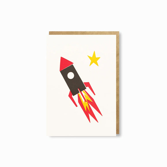 Mini-Klappkarte - Rocket