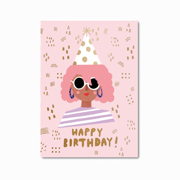 Postkarte  - Party Girl Birthday