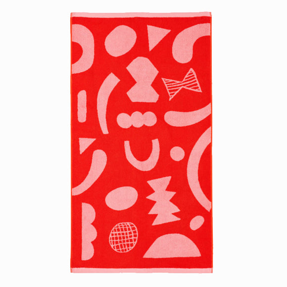 Handtuch - Abstract Shapes Bath Towel