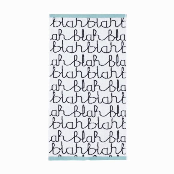 Handtuch - Blah Blah Hand Towel Light Blue
