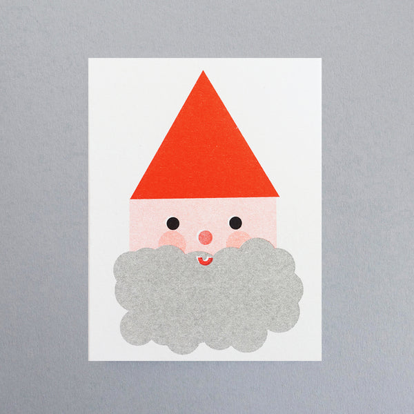 Mini-Klappkarte - Father Christmas Mini Card