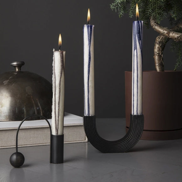 Kerzenständer - Balance Candle Holder brass black