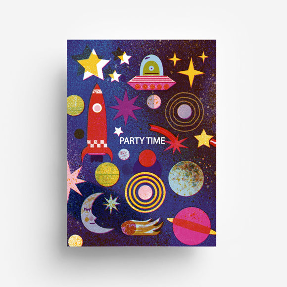 Postkarte - Party Space