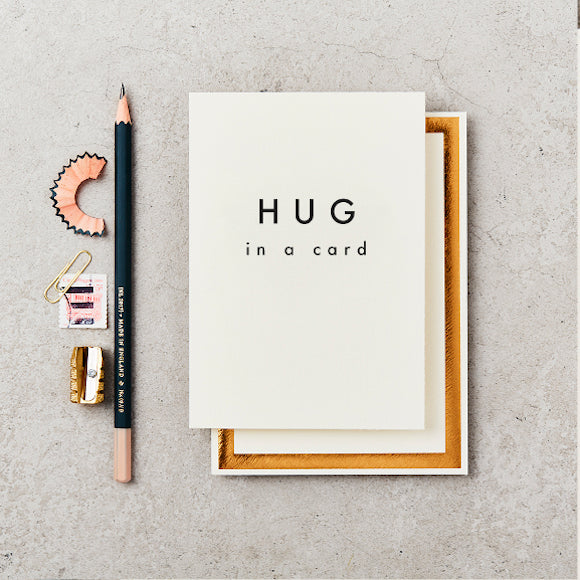 Klappkarte - Hug in a card