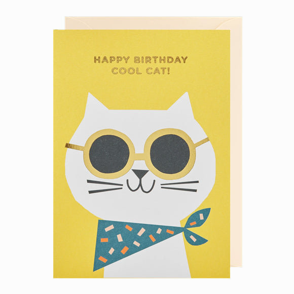 Grußkarte - Happy Birthday Cool Cat