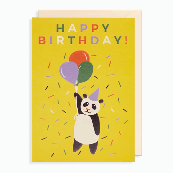 Grußkarte - Happy Birthday Panda