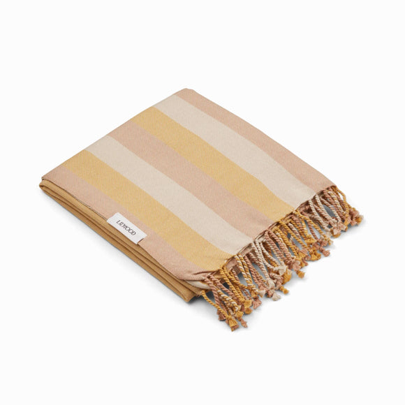 Strandtuch - Mona beach towel Peach sandy yellow mellow