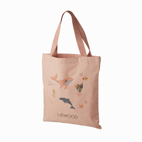 Baumwolltasche - Tote Bag Sea Creatures Rose mix small