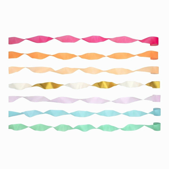 Girlanden-Set - Bright Crepe Paper Streamers