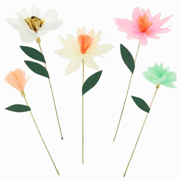 Papierblumen-Set - Flower Garden Decorative Sticks