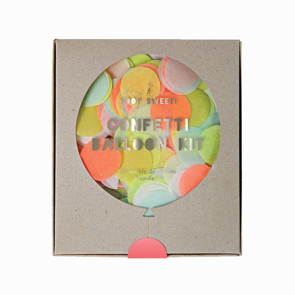 Ballon-Set - Neon Confetti Balloon Kit