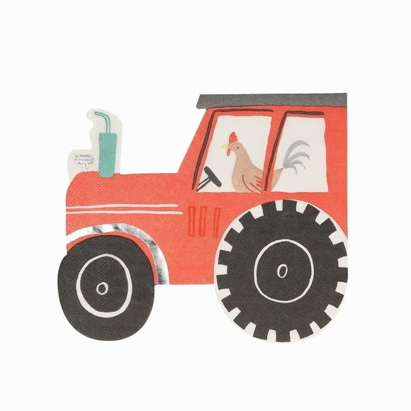 Servietten - On the Farm Tractor Napkins