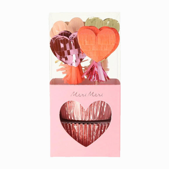 Cupcake-Set - Piñata Hearts Cupcake Kit