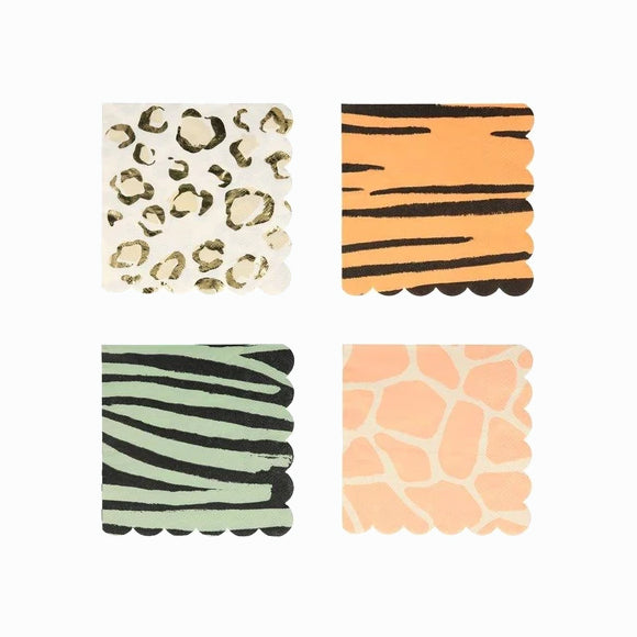 Servietten - Safari Animal Print small