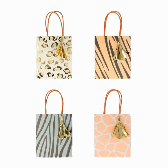 Geschenktüten-Set - Safari Animal Print Party Bags