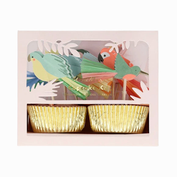 Cupcake-Set - Tropical Birds