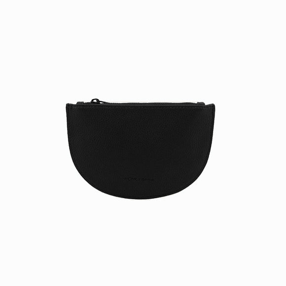 Portemonnaie - Mondo half wallet pebbled pu black