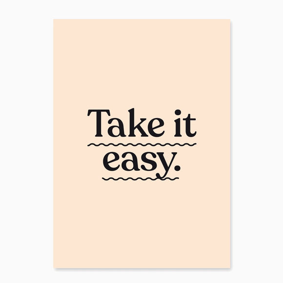 Postkarte - Take it easy