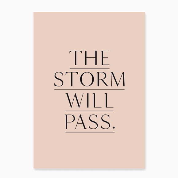 Postkarte - The storm will pass