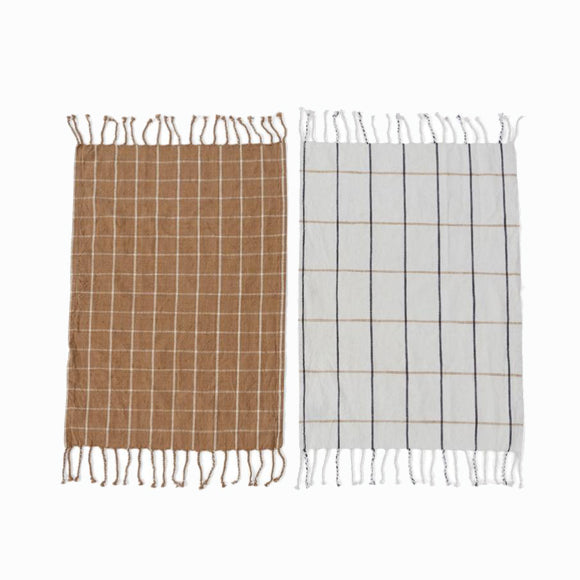 Geschirrtuch-Set - Gobi Tea Towel Camel/Offwhite