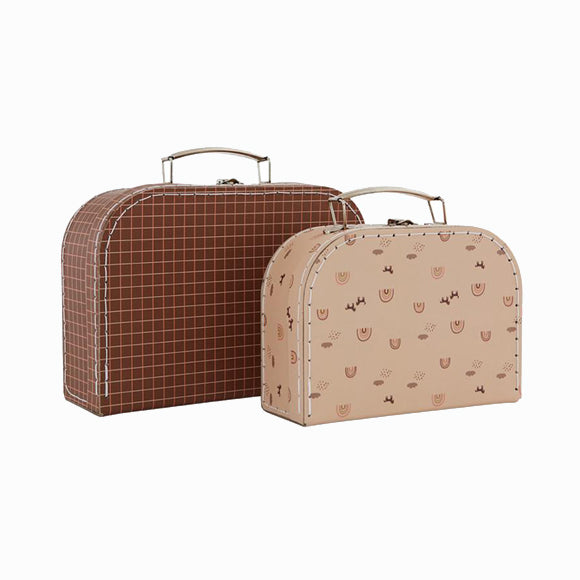Koffer-Set - Mini Suitcase Rainbow & Grid