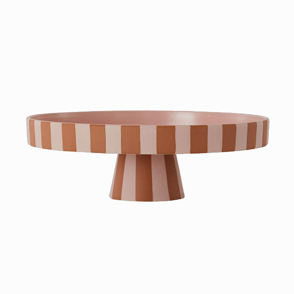 Schale - Toppu Tray Large Caramel/Rose