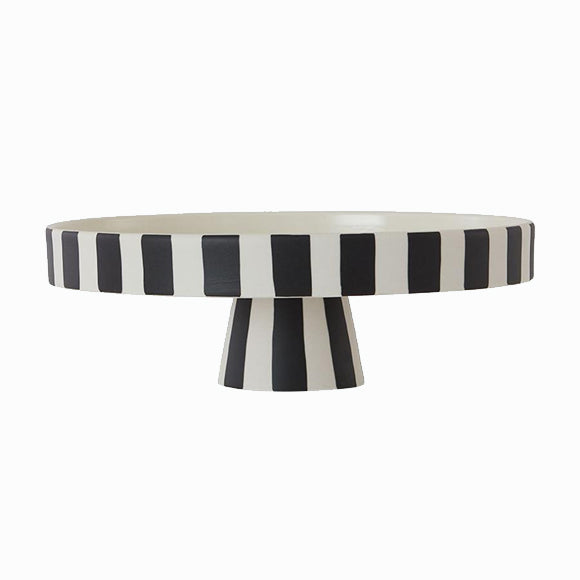 Schale - Toppu Tray Large White/Black