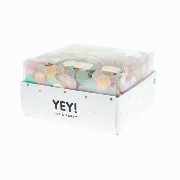 Konfetti - Yey! Let's Party Pastel Rainbow Mix