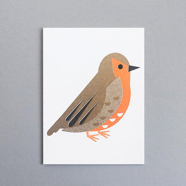 Mini-Klappkarte - Robin Mini Card