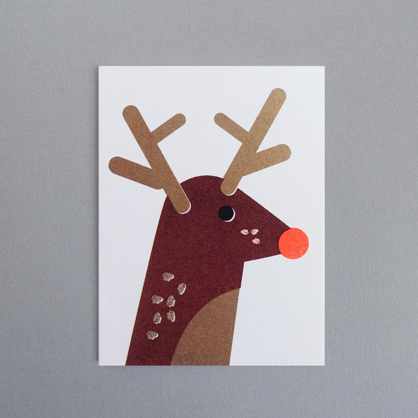 Mini-Klappkarte - Rudolph Reindeer Mini Card