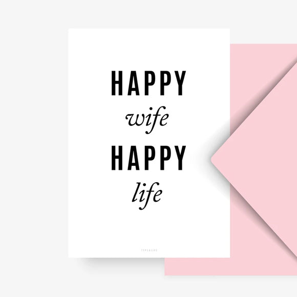 Postkarte - Happy Wife