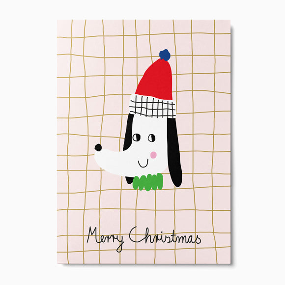 Postkarte - Christmas Dog