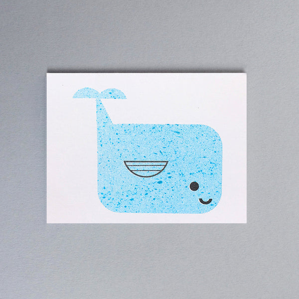 Mini-Klappkarte - Blue Whale Mini Card