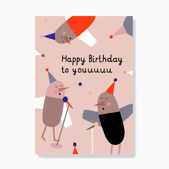 Postkarte - Birthday Birds