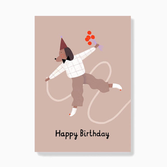 Postkarte - Birthday Dog