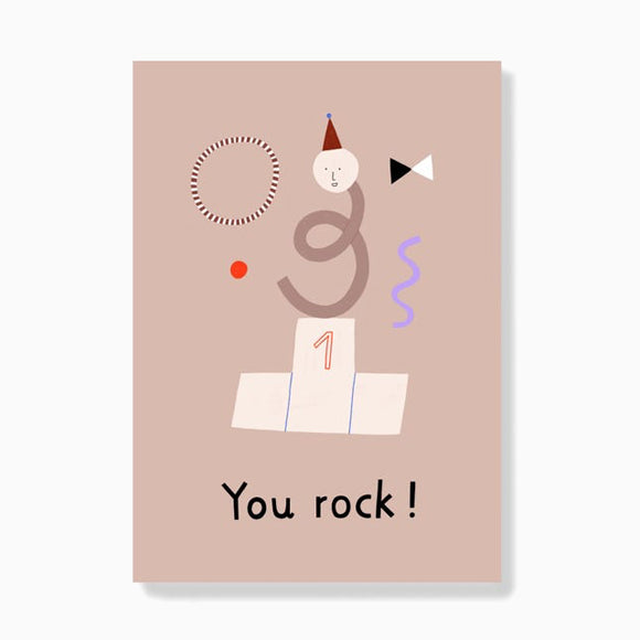 Postkarte - You rock