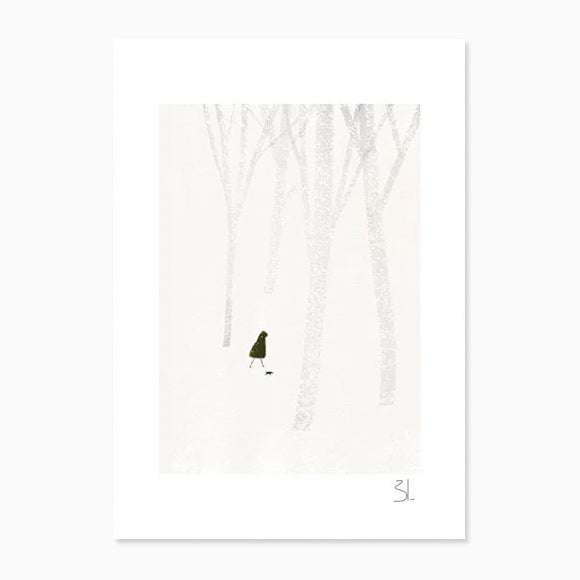 Kunstdruck - Winter Stroll A4