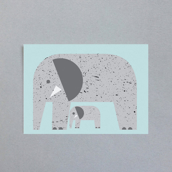 Mini-Klappkarte - Elephant Mini Card