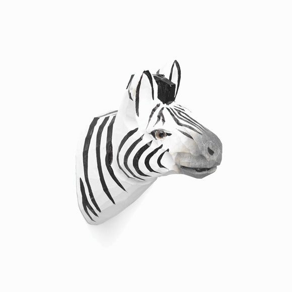 Wandhaken - Animal Hand-Carved Hook - Zebra