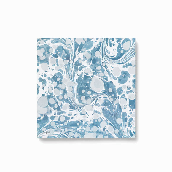 Servietten - Marbling Napkins dusty blue