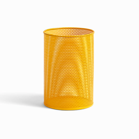 Mülleimer - Perforated Bin M yellow