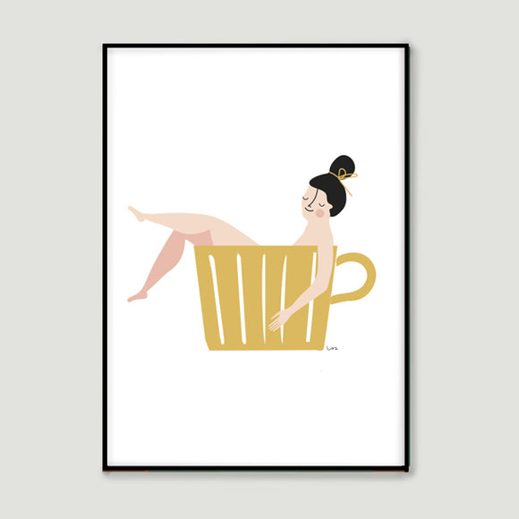 Poster - A ccup of tea yellow