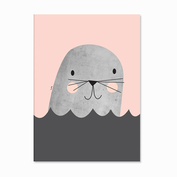 Poster - Little Seal pink